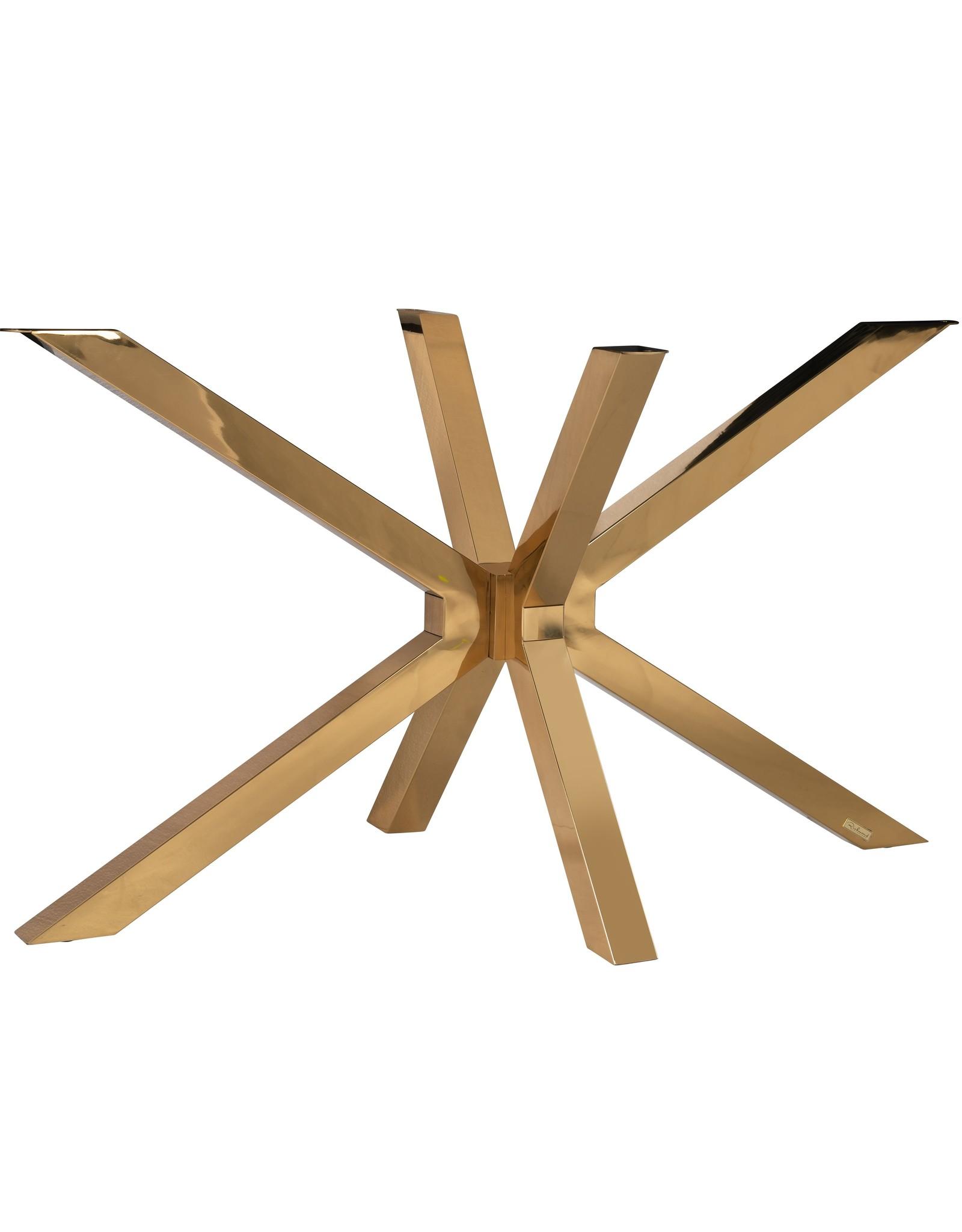 Richmond Interiors Eettafel poot Matrix goud conrad