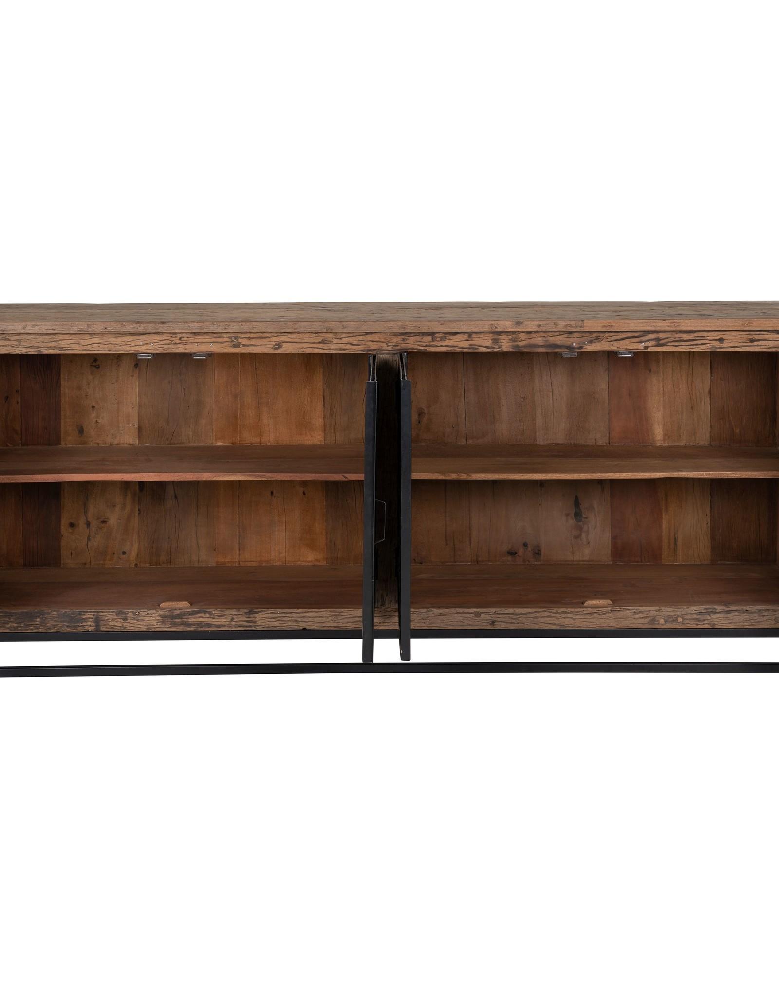 Richmond Interiors Dressoir Raffles 4-deuren, gerecyceld hout