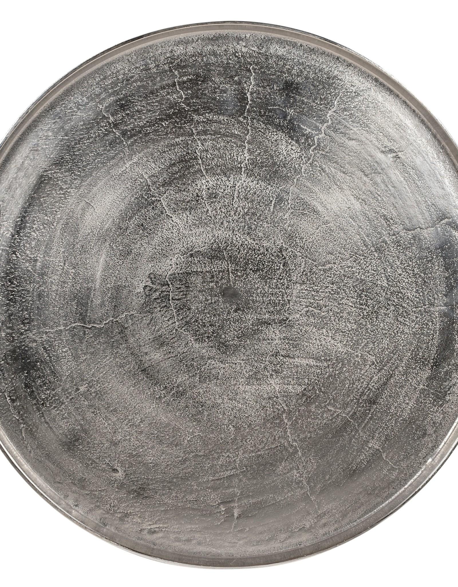 Richmond Interiors Salontafel Lyam aluminium silver 70Ø (Zilver)