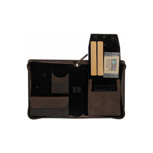 UCE Zigarren Etuis  Kamel-Leder Braun Scherenedition