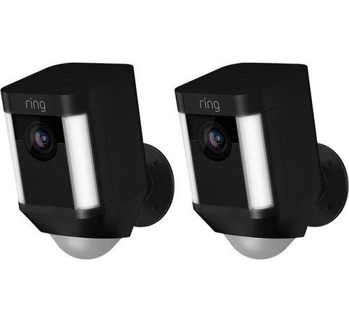 Ring Ring Spotlight Cam Battery Zwart Duo Pack