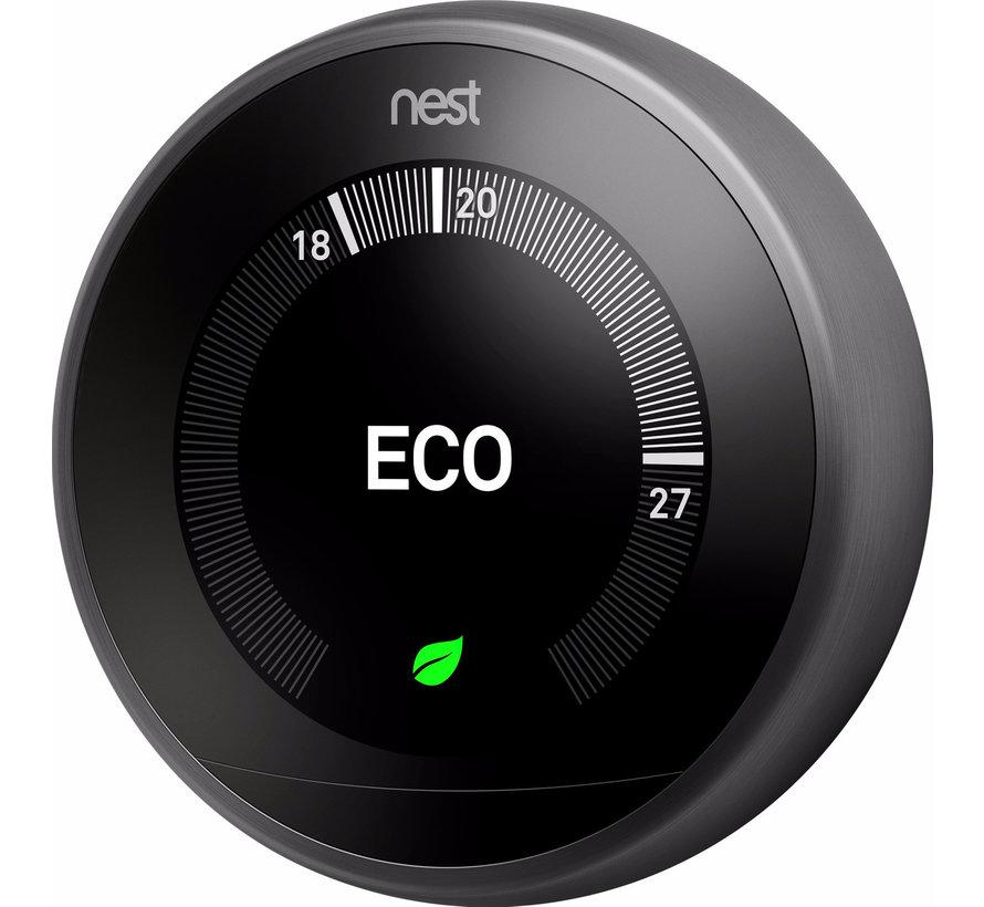 Google Nest Learning Thermostat (3e generatie) -  Zwart
