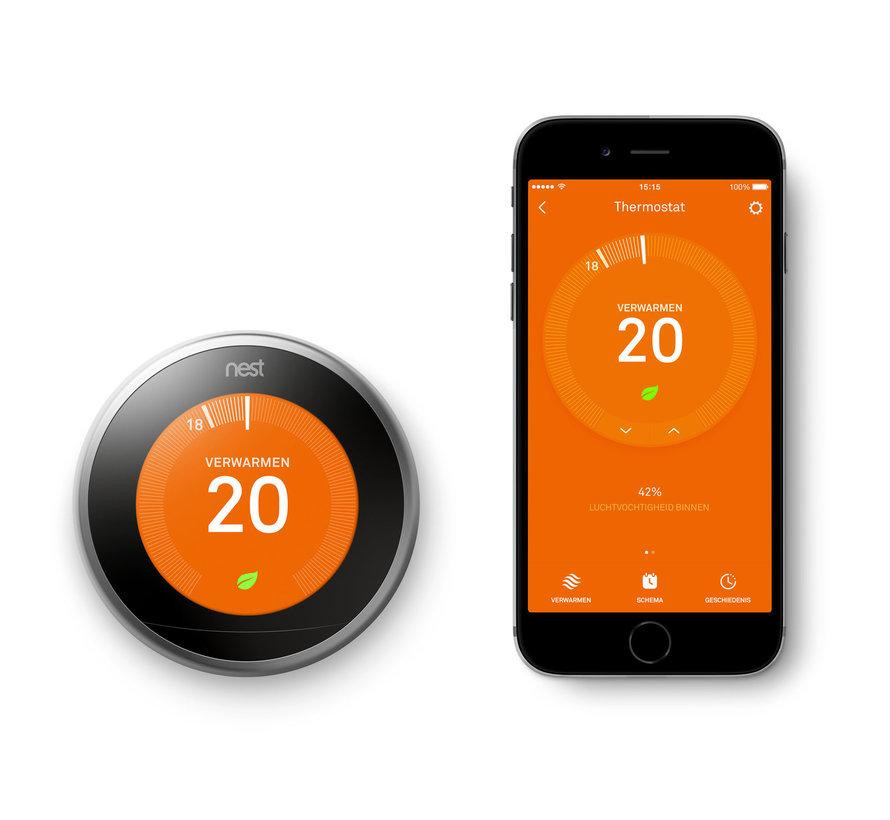 Google Nest Learning Thermostat (3e generatie) - Zilver