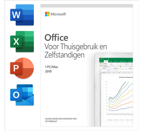Microsoft Microsoft Office 2019 Thuisgebruik en Zelfstandigen NL (incl. outlook)