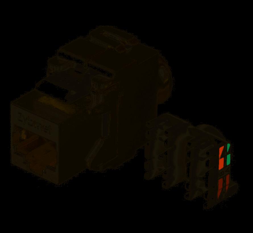 Zybrnet 10G Cat.6A & Cat.7 RJ45 Keystone