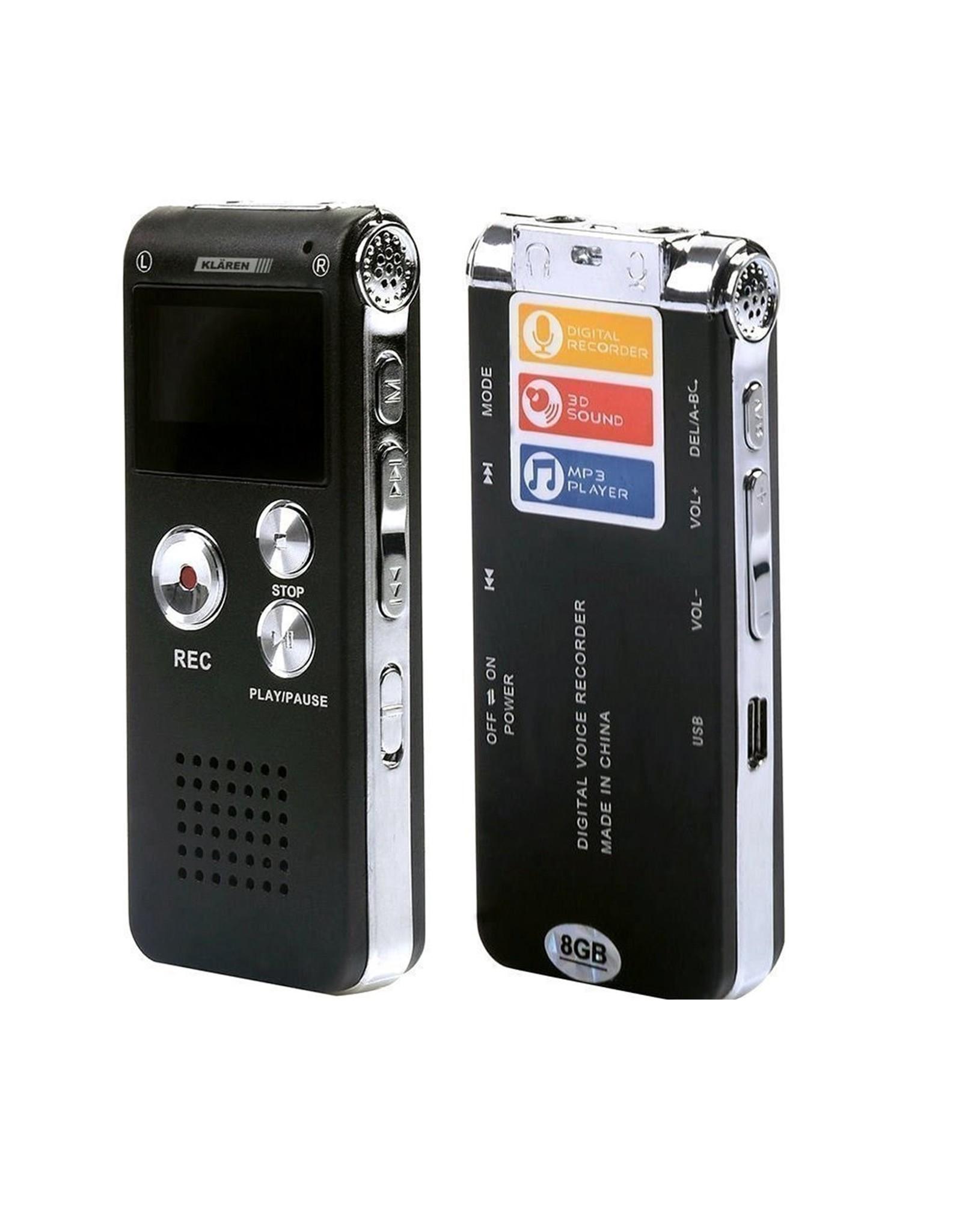 Voice Recorder Premium - Stereo Opname - Met MP3 Speler functie