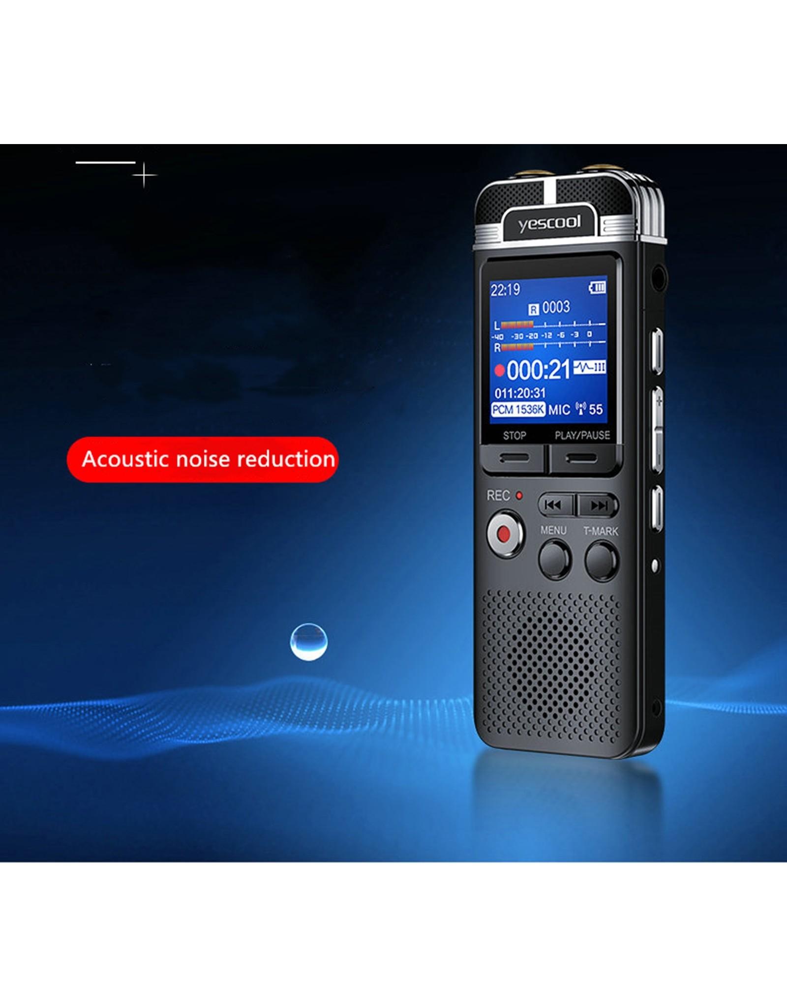 Premium Digitale Recorder - Premium Voice Recorder - Multifunctionele Voice Recorder - Dictafoon 8 GB - Audio Memo Recorder Met USB - Spraak Recorder - Sound – Geluid Recorder - Opname Apparaat - Met MP3 Speler Functie – Zwart