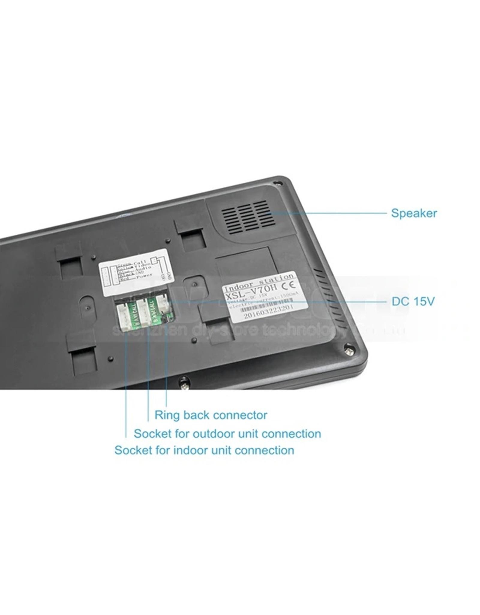 7 inch kleurenmonitor - Deurbel - Intercom met draad Deurintercom