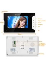 Deurbel met 7 inch scherm - Intercom met draad Deurintercom - 7 inch kleurenmonitor