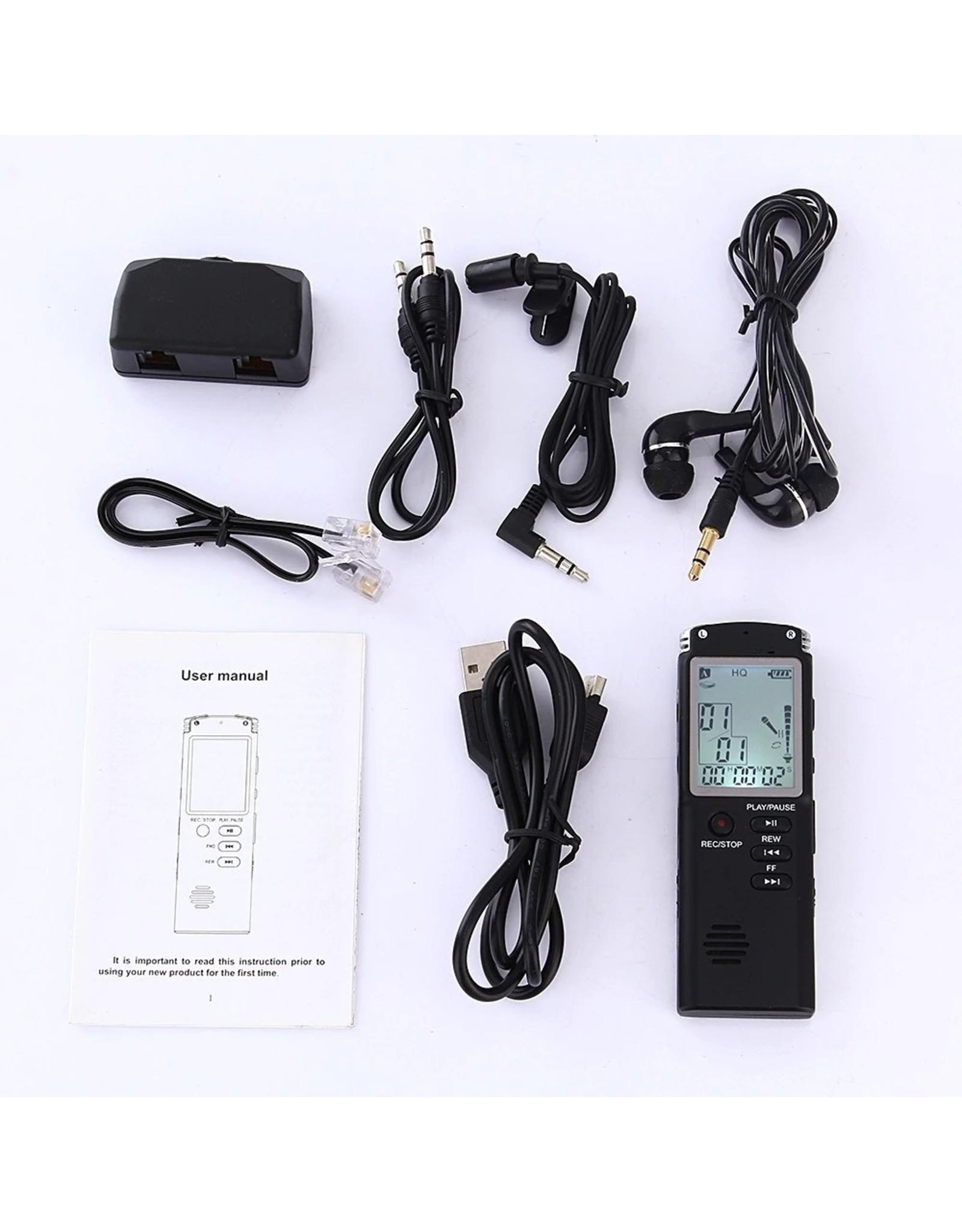 Premium Digitale Recorder - Premium Voice Recorder - Multifunctionele Voice Recorder