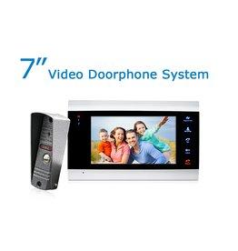 Merkloos HD IP Villa video-deurtelefoon met 720P deurcamera – 7 inch Deurintercom met cameramonitor en 1200TVL video/foto camera