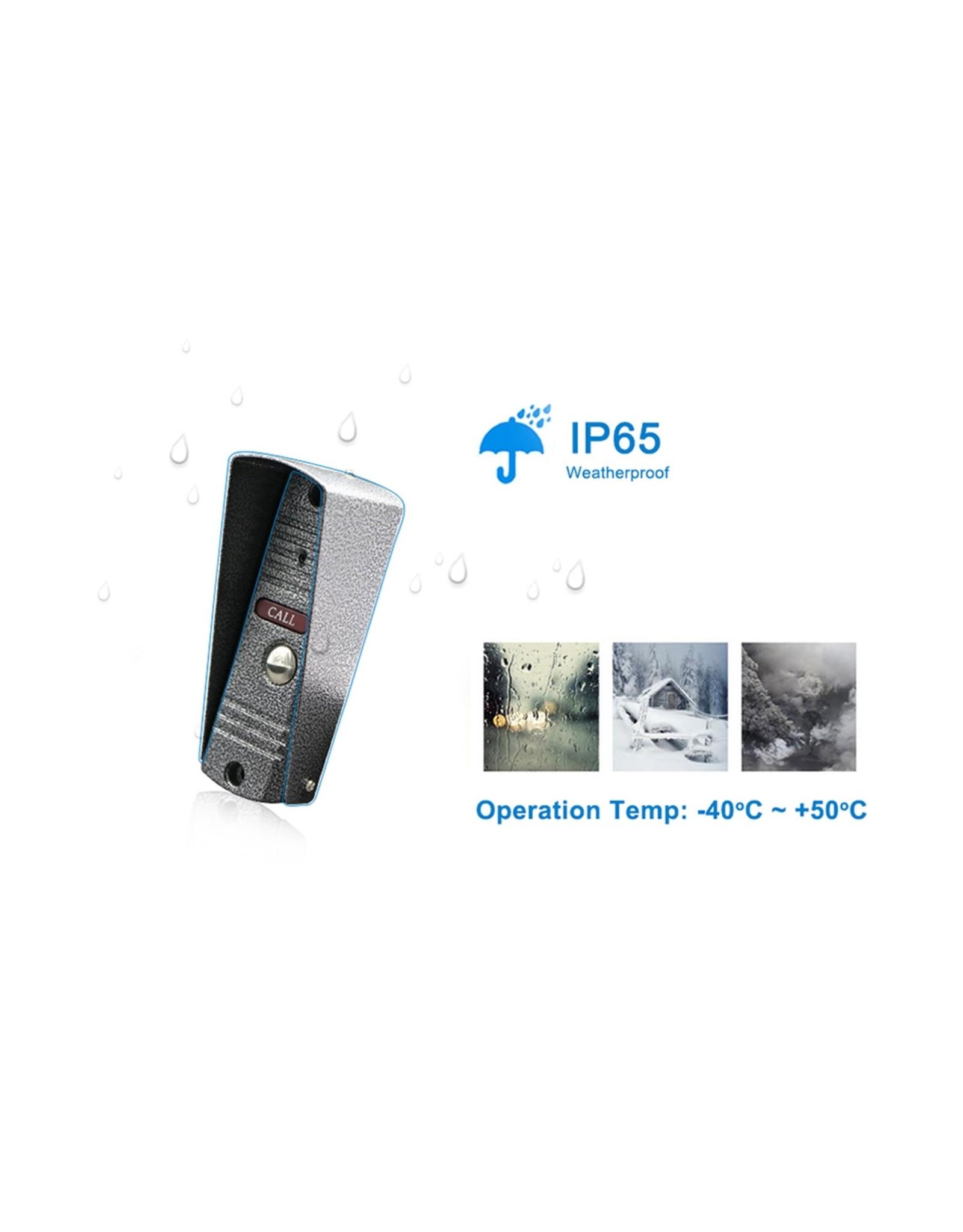 Intercom met draad Deurintercom - 7'' inch kleurenmonitor en 1200TVL video/foto camera