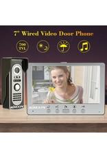 Intercom met draad Deurintercom - 7 inch kleurenmonitor en 700TVL video/foto camera
