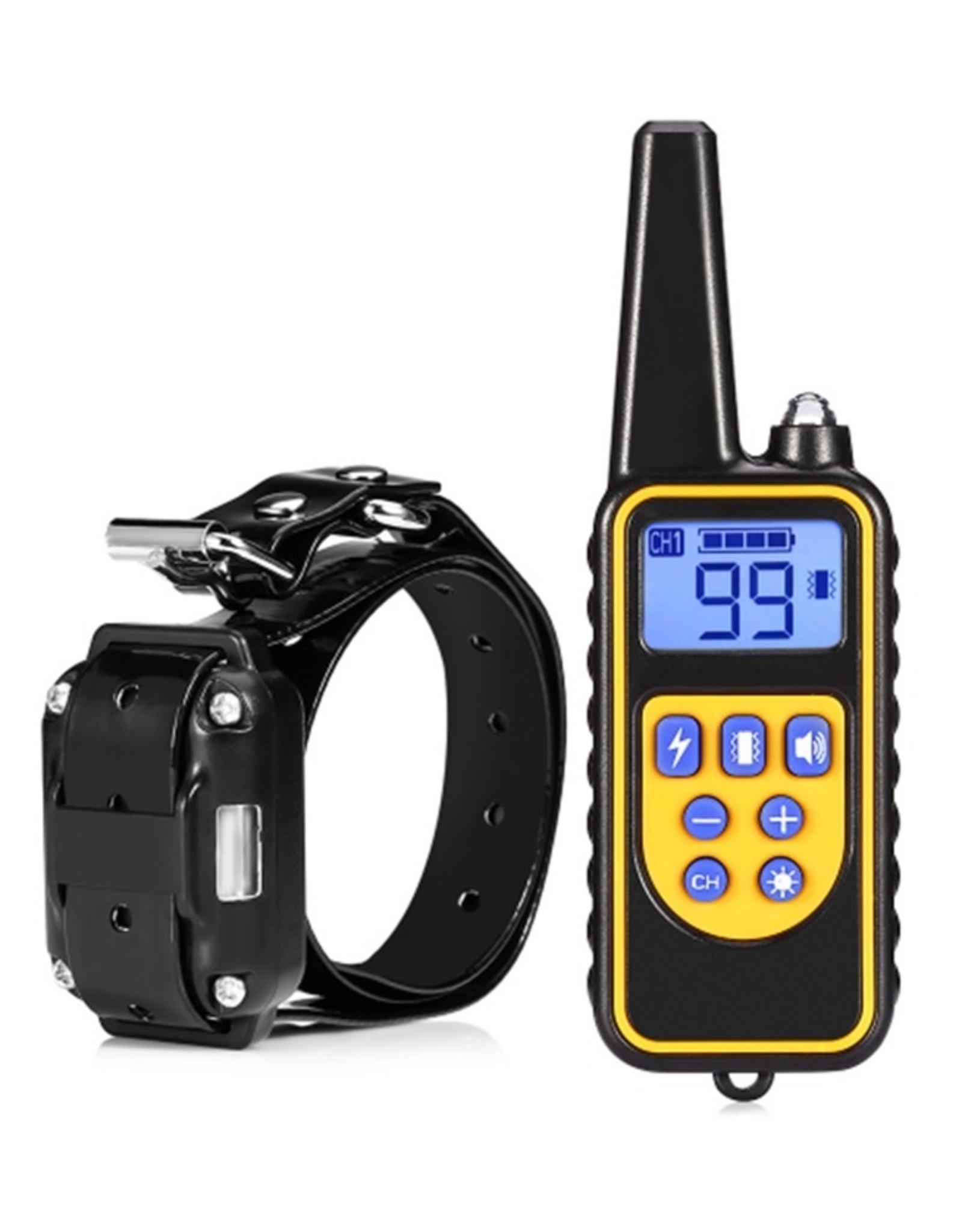 Trainingshalsband - trainingsband - teletac 800m oplaadbaar – voor 1 hond