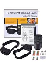 Trainingsband Trainingshalsband 100 levels voor 2 honden