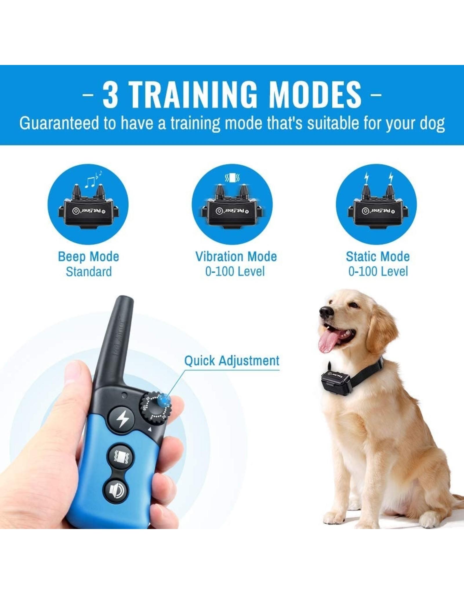 Merkloos Trainingshalsband - Trainingsband - Teletac 300m oplaadbaar - Stroomband