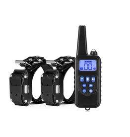 Trainingshalsband - trainingsband - teletac 800m oplaadbaar - Voor 2 honden