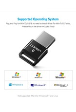 UGREEN USB 2.0 Bluetooth-adapter APTX Bluetooth V4.0 dongle audio-ontvanger Bluetooth-zend