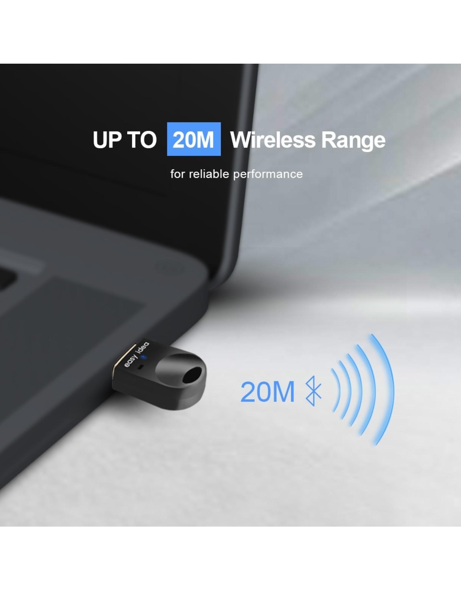 Bluetooth 4.0 USB Micro Dongle / Adapter - Zwart