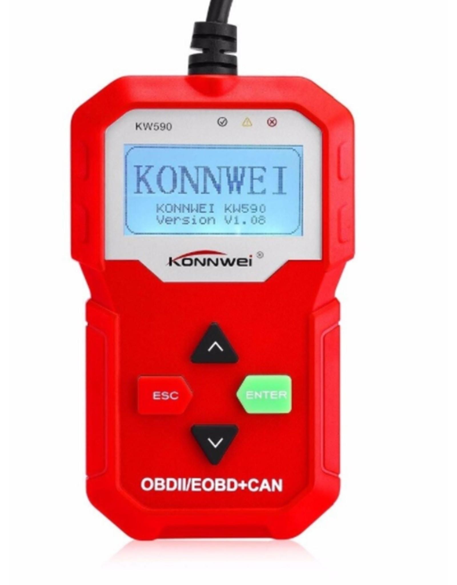 KONNWEI KW590 Diagnosecomputer - OBD2 - EOBD - CAN Handscanner – Diagnoseapparatuur - Motorstoring Codelezer - OBD-scanner