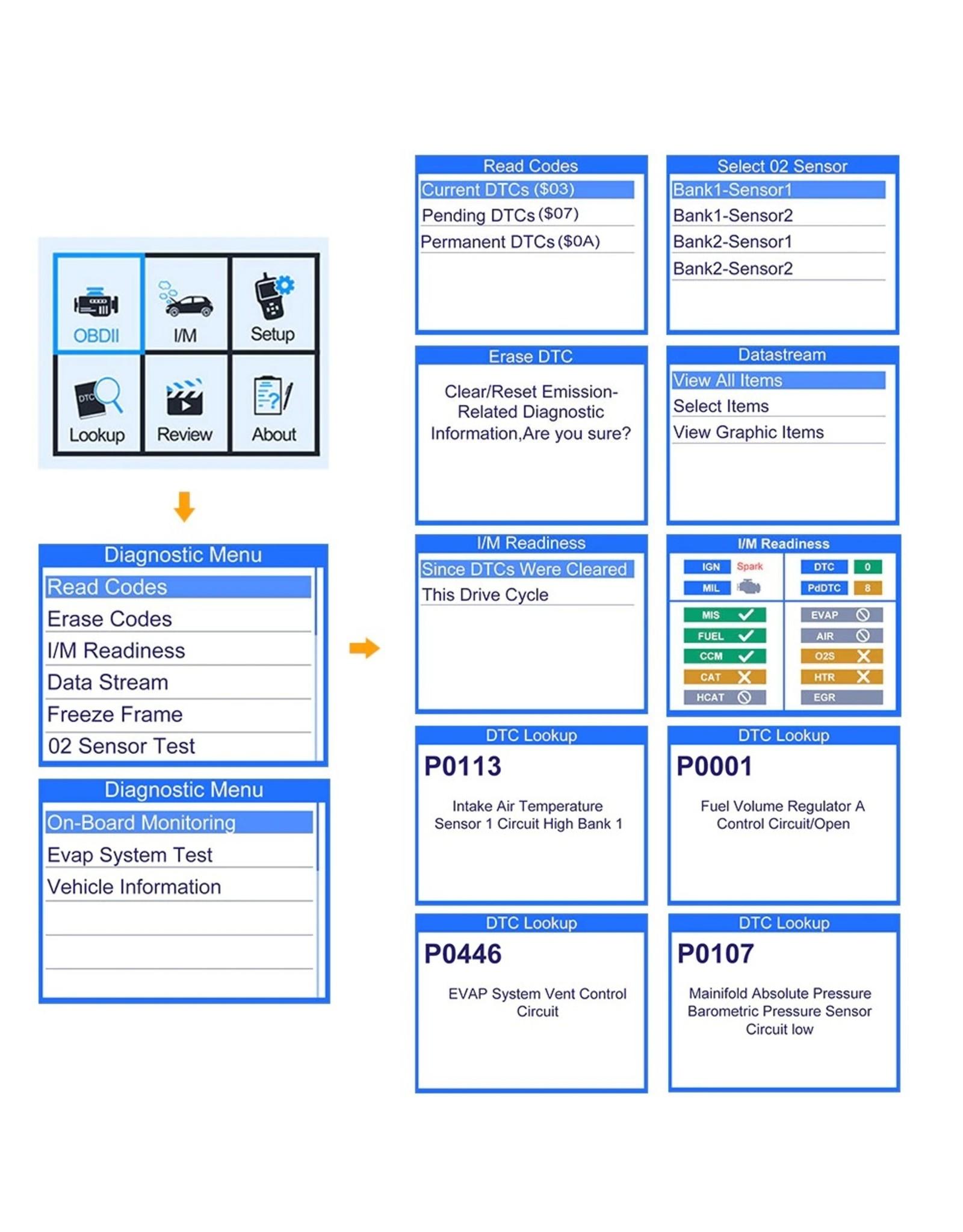 Autophix OBD2 / EOBD Diagnosecomputer | Uitleesapparaat OM126 - Volledig origineel