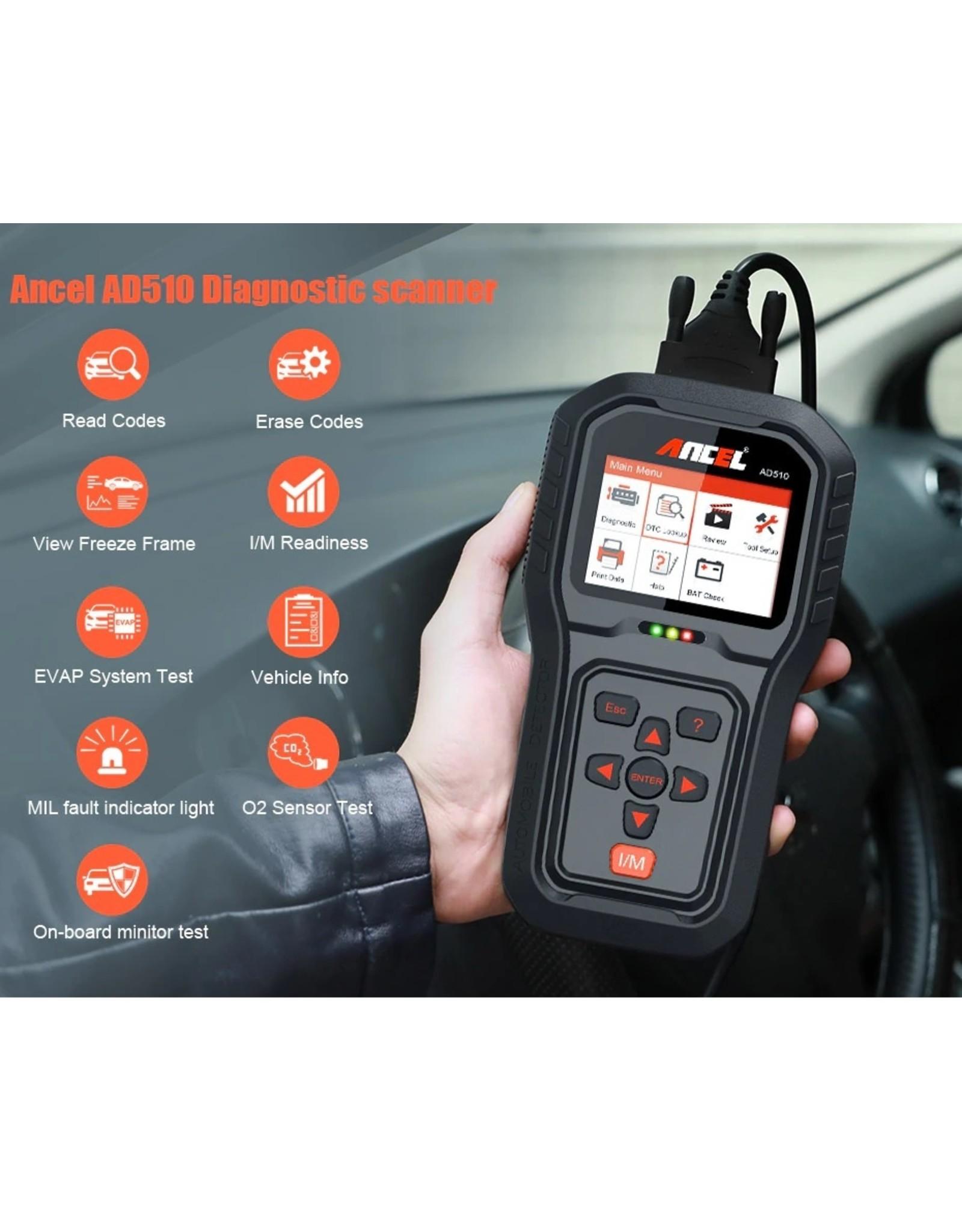 AD510 pro OBD2 EOBD CAN Handscanner NL met accu test functie
