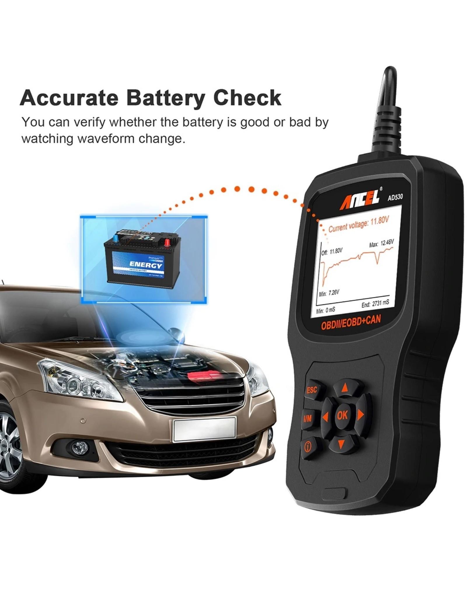 ANCEL AD530 OBD II Auto Code Reader Volledige OBD Modes Voertuigmotor fout Automotive OBD2 Scanner Diagnostische Scan Tool met Batterij Tester Functie