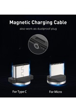 Magnetische Oplaadkabel - Magneet met USB Type-C adapter - 360 graden – Laadkabel draaibaar