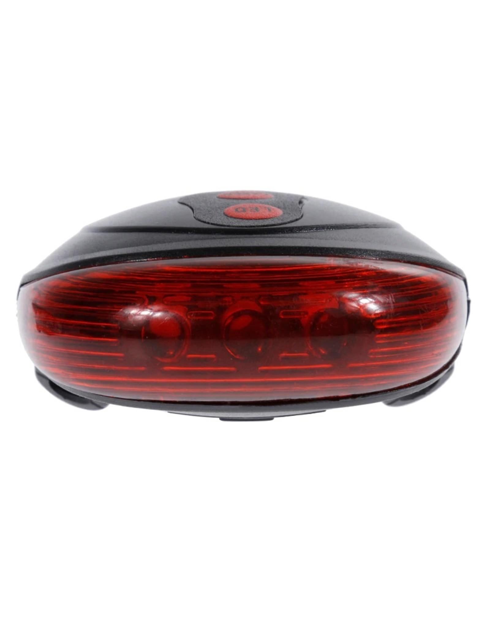 Laser fietslamp - LED verlichting fiets - Achterlicht fiets - Afneembare fietslamp - Fietsverlichting (Rood)