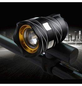 Merkloos Ultieme Led Fietslamp - Oplaadbaar via USB - Super fel - 3 standen & zoom