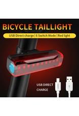 Led Fietslamp - Achterlicht - USB oplaadbaar – Rood achterlicht - USB oplaadbaar