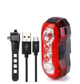 Merkloos Fiets achterlicht USB oplaadbare waarschuwingslamp Waterdicht Super helder licht voor fietsen