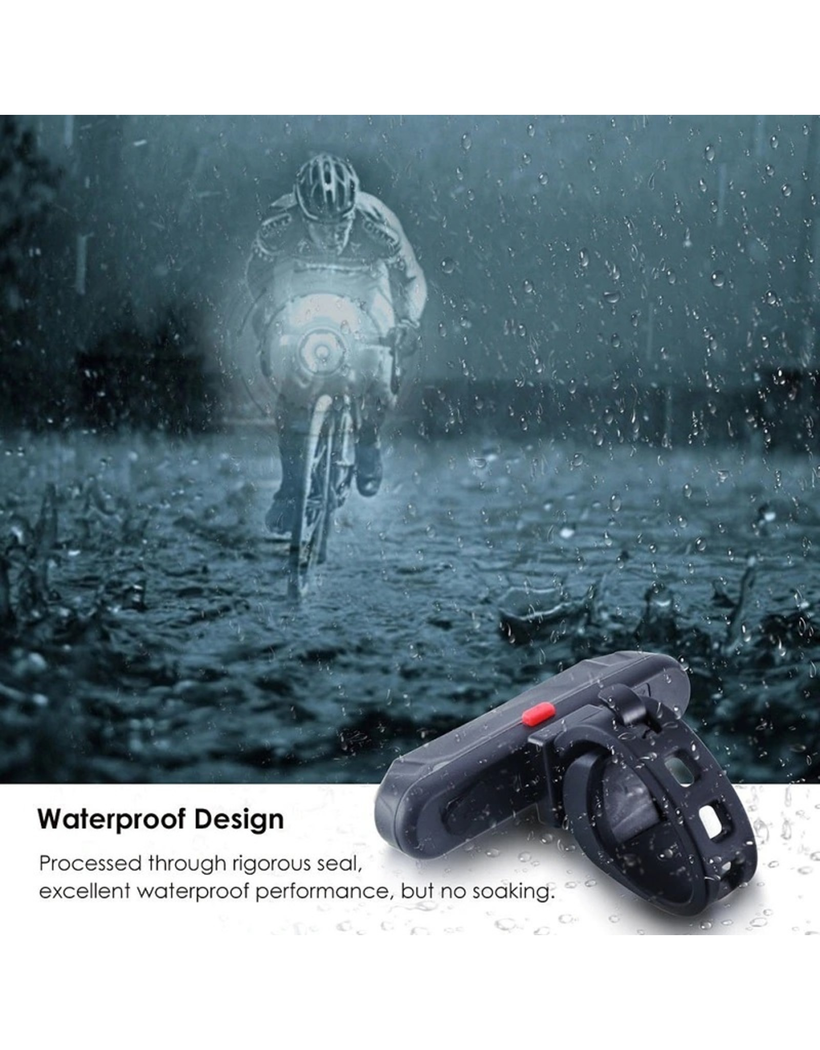 Fiets achterlicht USB oplaadbare waarschuwingslamp Waterdicht Super helder licht voor fietsen