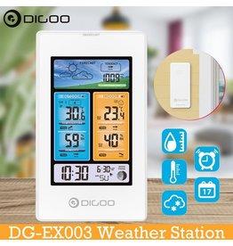 Merkloos DIGOO DG-EX003 - Weersverwachting - Luchtdruk - Weerstation - Temperatuursensor - Binnen en Buitentemperatuur - Vochtigheid - Dagelijkse wekker