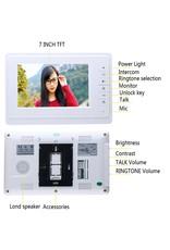 Deurintercom -7'' kleurenmonitor en foto/video camera