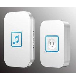 Cacazi draadloze waterdichte deurbel - 300m afstandsbediening - batterij radio bel 1 knop 1 ontvanger