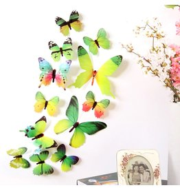 3D DIY Muursticker Stickers Vlinder Home Decor Kamer Decoraties Nieuw - Groen