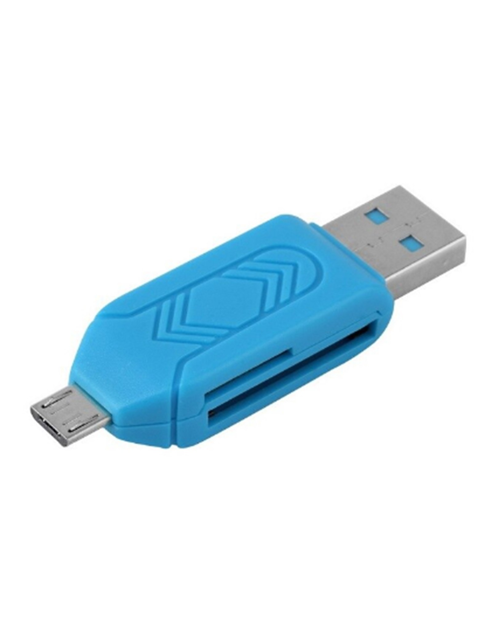 Merkloos OTG Micro USB kaartlezer voor PC en Mobiele telefoon – Diverse Kleuren