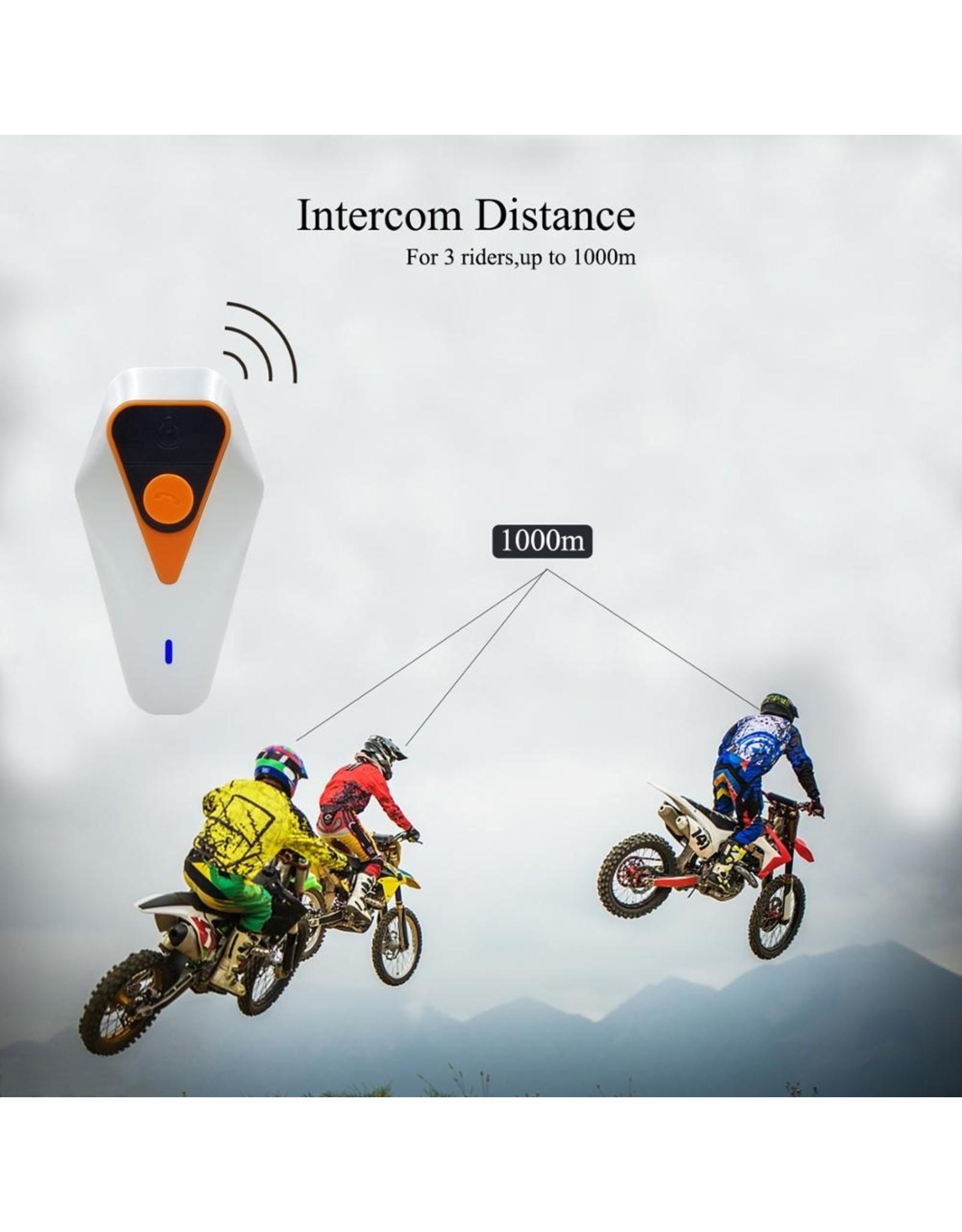 Merkloos WT002 Bluetooth-communicatiesysteem voor motorfietsen.
