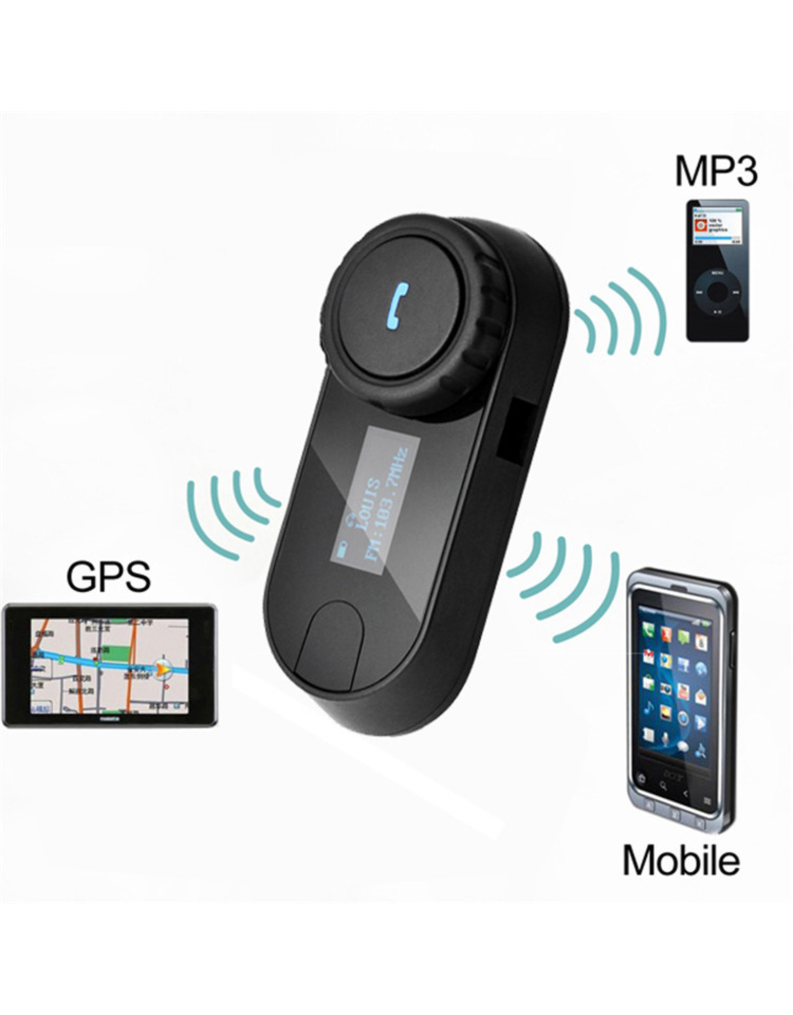 T-COMSC Motor Intercom Headset Interphone