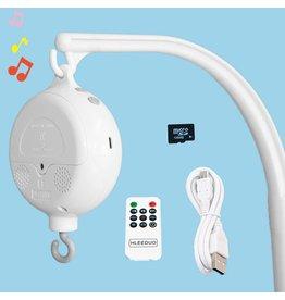 Merkloos TI284 RC USB: (inclusief 1 x ABS Baby Muziek mobiel doosje + afstandsbediening + USB-oplader + 128 MB kaart)