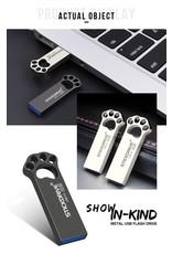 Usb flash drive 64 gb metalen USB 3.0 zilveren pendrive - zwart