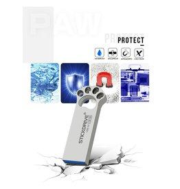 Merkloos Usb flash drive 64 gb metalen USB 3.0 zilveren pendrive - grijs