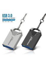 USB 3.0 metalen flashdrive sleutelhanger USB-geheugensticks Snelheid USB3.0 - grijs