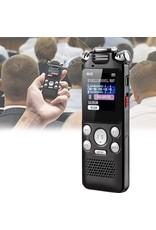 Draagbare spraakrecorder, dictafoon Ruisonderdrukking A-B herhalen Tweewegmicrofoon Lossless multifunctioneel USB-opladen voor