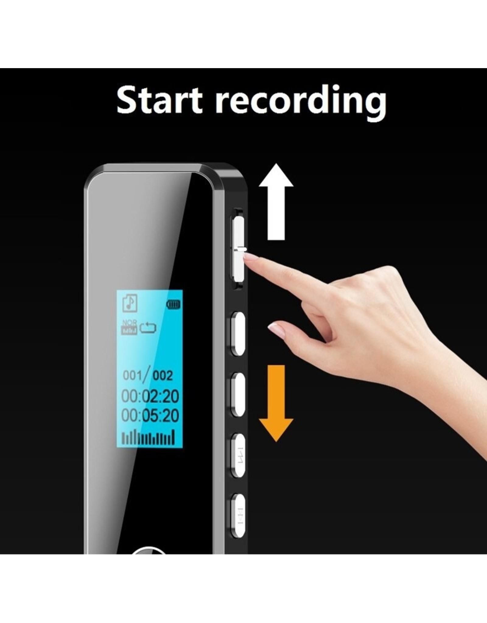 Voice Recorder GB mini Professionele digitale Stereo High Definition voice recorders verborgen afluisteren denoise Flac lossless mini MP3 met WAV, MP3-speler