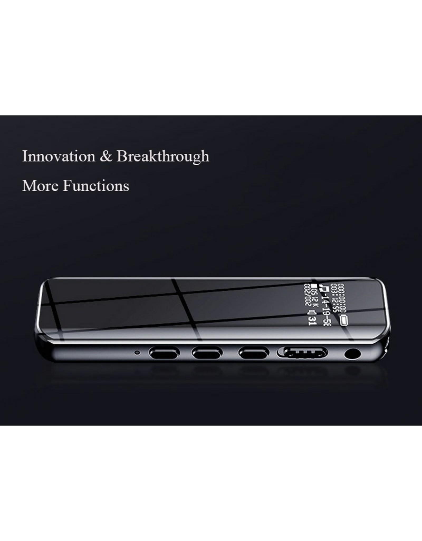 8gb Digitale spraakrecorder Sneltoets Geluid Audio-opname Dubbele microfoons Ruisonderdrukkingsvergrendeling 3D Edge Screen Spraakgestuurd