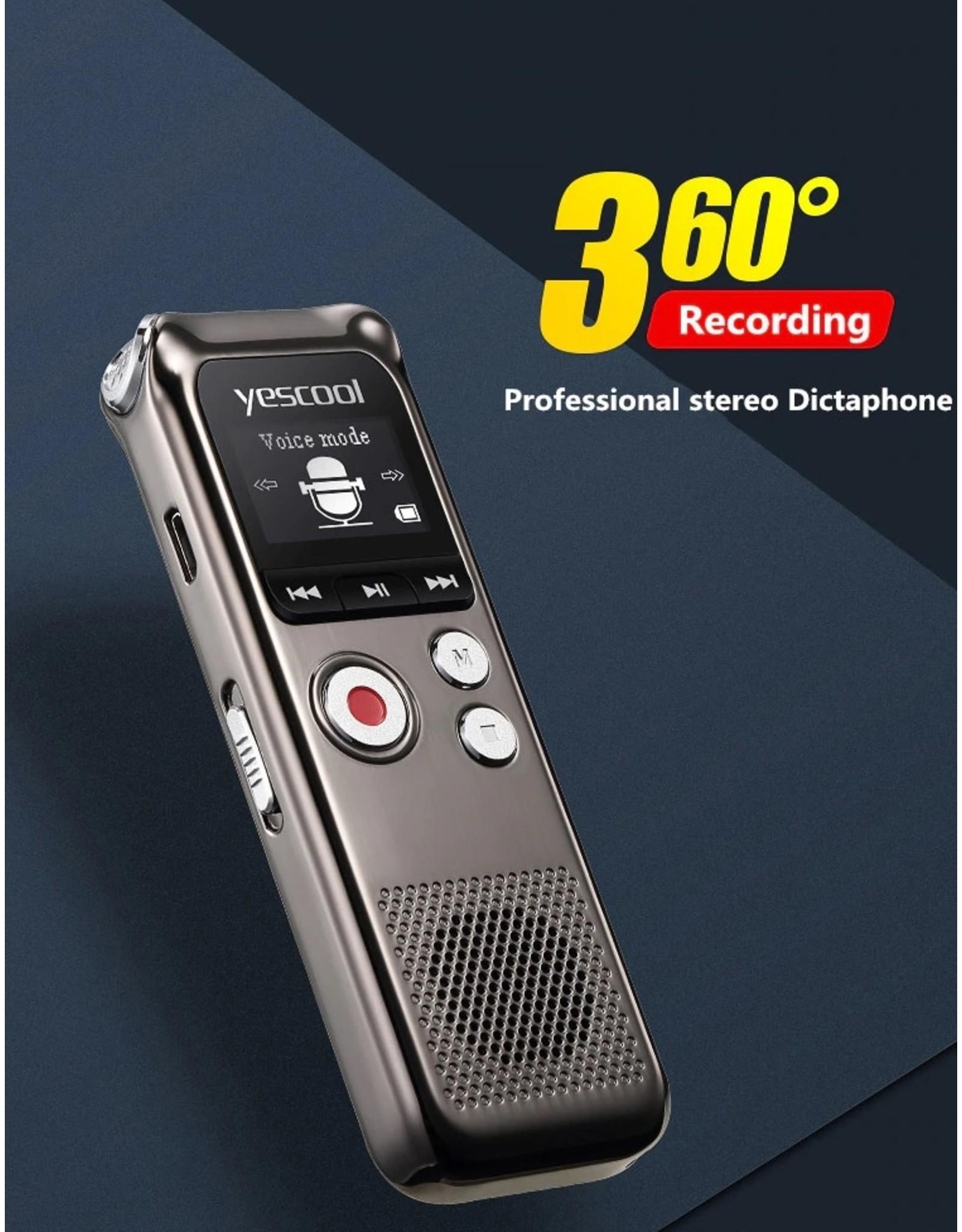 Premium Digitale Recorder - Premium Voice Recorder - Multifunctionele Voice Recorder - Dictafoon 8 GB - Audio Memo Recorder Met USB - Spraak Recorder - Sound – Geluid Recorder - Opname Apparaat - Met MP3 Speler Functie – 8GB