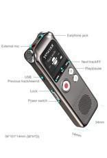 Merkloos Premium Digitale Recorder - Premium Voice Recorder - Multifunctionele Voice Recorder - Dictafoon 8 GB - Audio Memo Recorder Met USB - Spraak Recorder - Sound – Geluid Recorder - Opname Apparaat - Met MP3 Speler Functie – 8GB