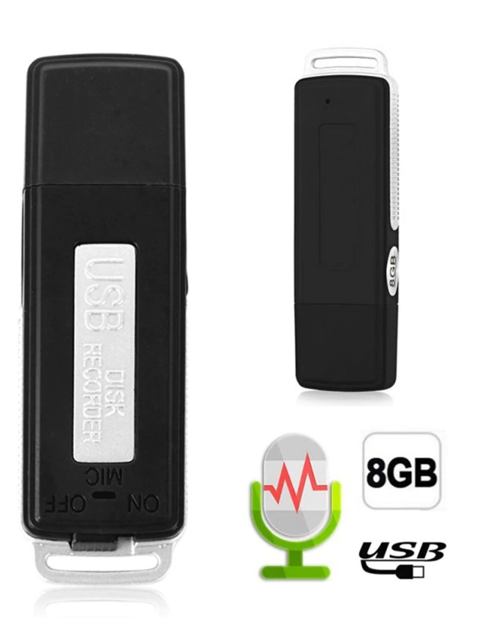 2 in 1 Mini 8GB USB Pen Flash Drive Schijf Digitale Audio Voice Recorder 70 Uur Draagbare Mini Opname Dictafoon